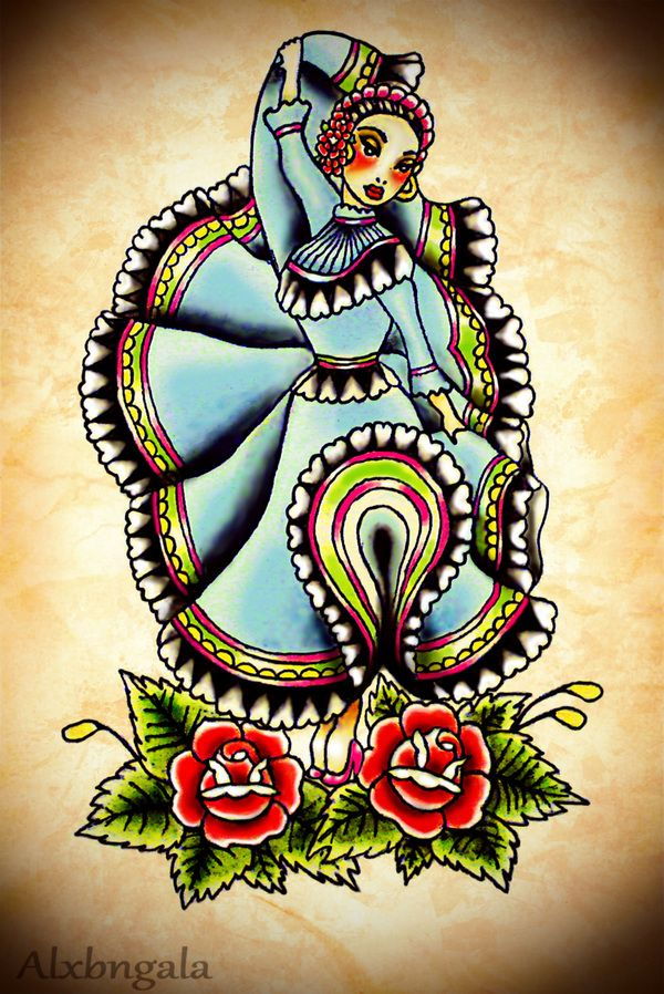 Omfg!!! Im in love !!!  Mexican tattoo flash BY: ALXBNGALA by Alejandra L Manriquez, via Behance
