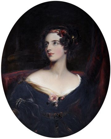 Lady Harriet Elizabeth Cavendish, Duchess of Sutherland (1806-1868), was the daughter of Georgiana Dorothy Cavendish, Duchess of Devonshire (1783-1858), and William Cavendish, 5th Duke of Devonshire (1748-1811). She married in 1823 George Granville Leveson-Gower (1786-1861). Earl Gower, later 2nd Duke of Sutherland. She later became Mistress of the Robes to Queen Victoria. Their daughter, Elizabeth Georgiana (1824-1878), became Duchess of Argyll.