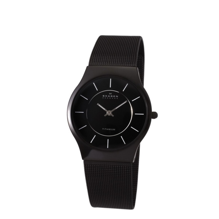 Skagen Titanium Black Mesh Ultra Thin