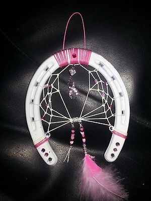 horse shoe dream catcher- cancer warrior