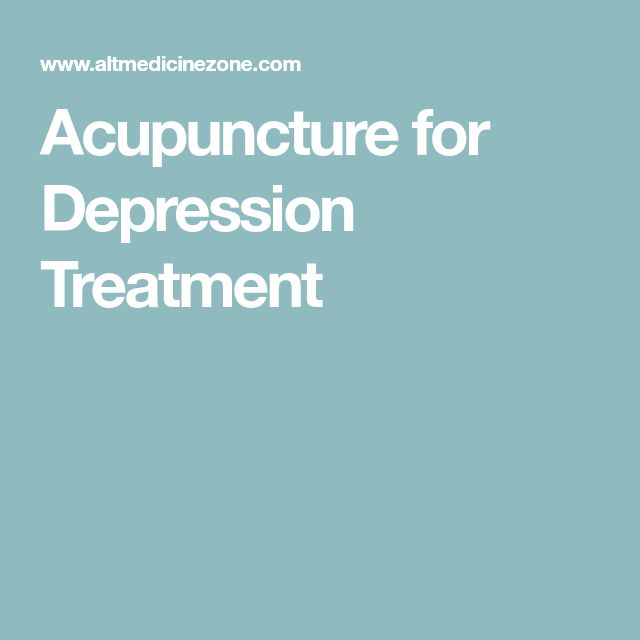 Acupuncture for Depression Treatment