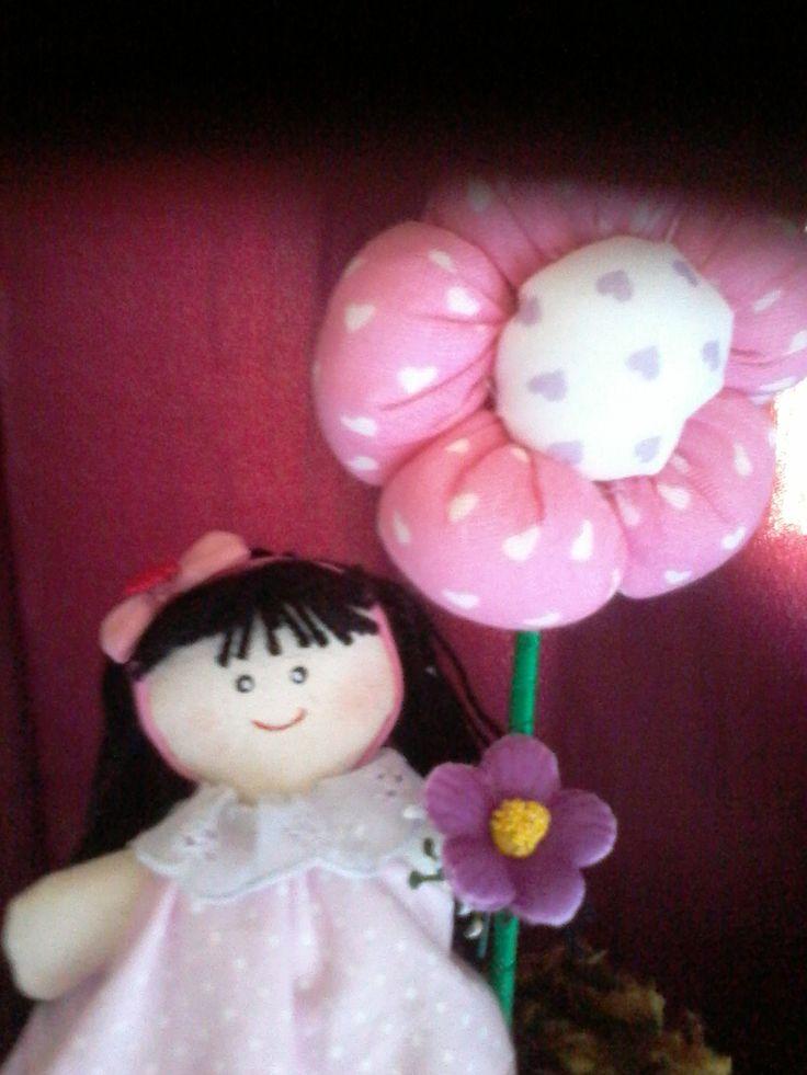 bonequinha flor