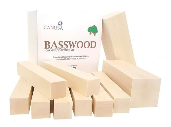Premium Basswood Carving Whittling Large Beginners Kit 25 More Wood Than Other Large Kits Unfinished Kiln Dried Whittling Blocks Woodworking Tools For Beginners Whittling Kits For Kids
