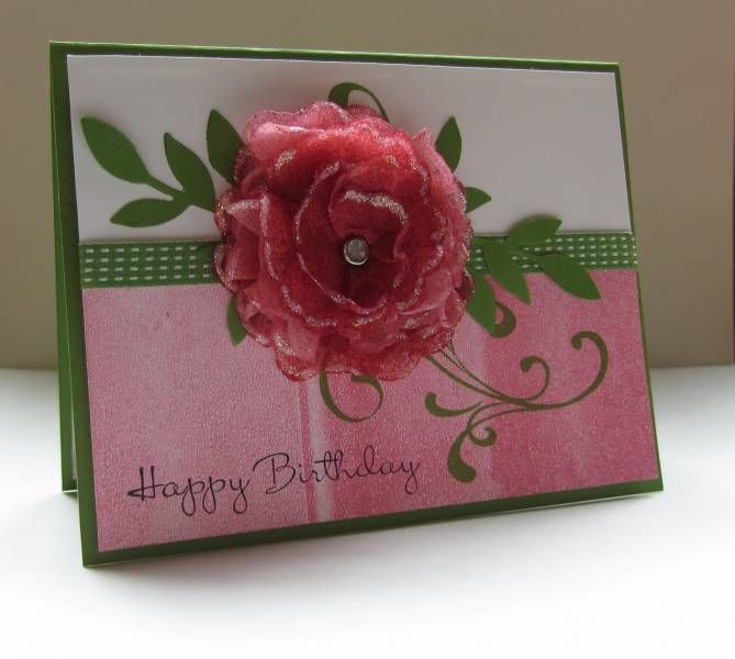 TLC382 Dryer Sheet Flower by nancy littrell - Cards and Paper Crafts at Splitcoaststampers