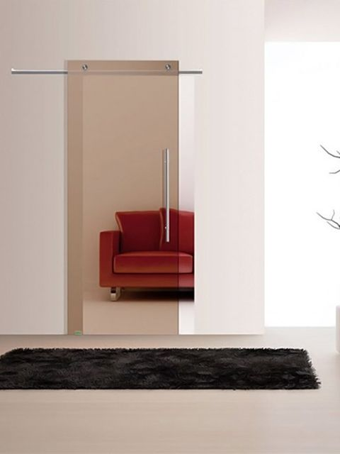 Puerta corredera de cristal Casali, modelo SystemZero Bronzo de Maydisa