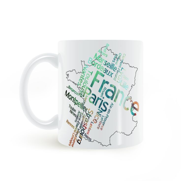 Find More Mugs Information about France Alphabet Map Mug Coffee Milk Ceramic  Creative DIY Gifts Home Decor Mugs 11oz T159,High Quality decorative mugs,China map mug Suppliers, Cheap mug coffee from Double Seven Store on Aliexpress.com
