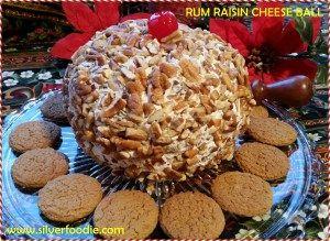 A Ravishing Rum Raisin Cheese Ball