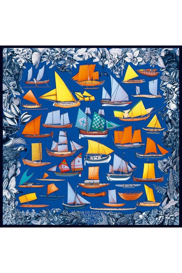S is for silk. Who doesn't want a magnificent silk Hermes scarf to tie your wardrobe together.