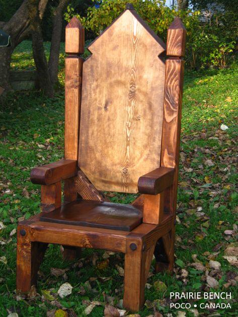 73 besten armchairs bilder auf pinterest armlehnen for Throne chair plans
