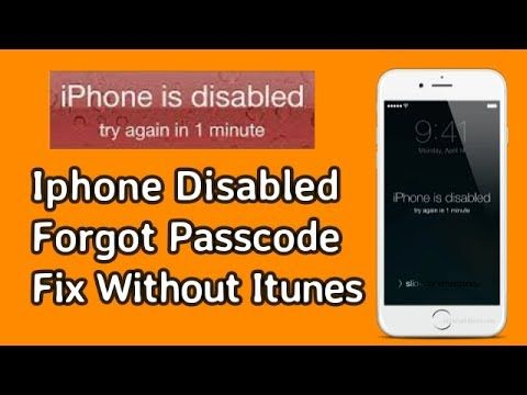 Forgot iPhone Passcode or iPhone is Disabled?How to Unlock