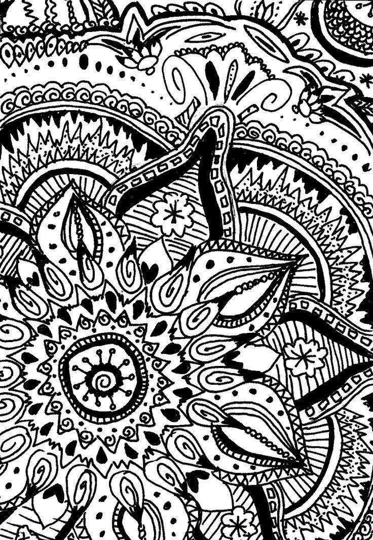 self-drawn circles, zentangle