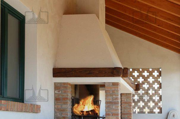 caminetti barbecue muratura a legna da interno ed esterno progettati e ...