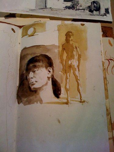 Robert Liberace's sketchbook.