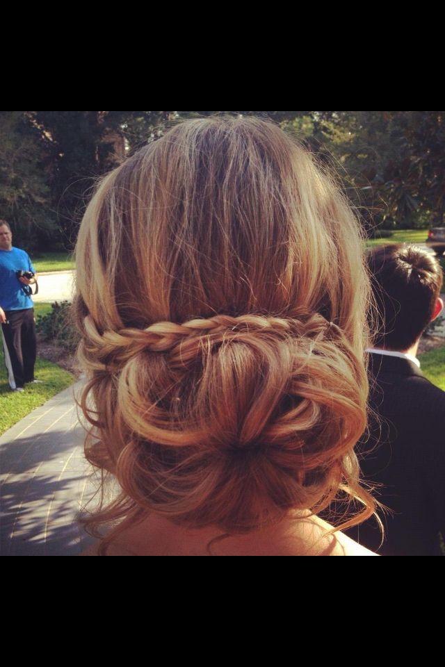 For Eric's wedding Bridesmaid hair