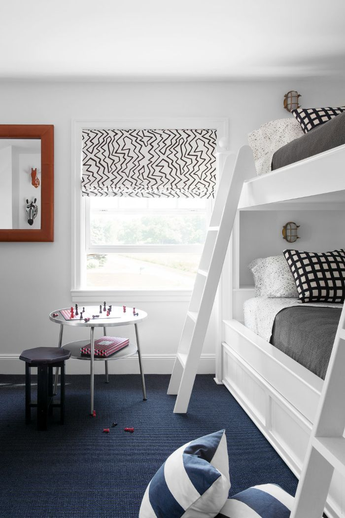 5 Cool Kids Room Ideas That Are Anything But Childish Blue Carpet Bedroom White Bunk Beds Bedroom Carpet