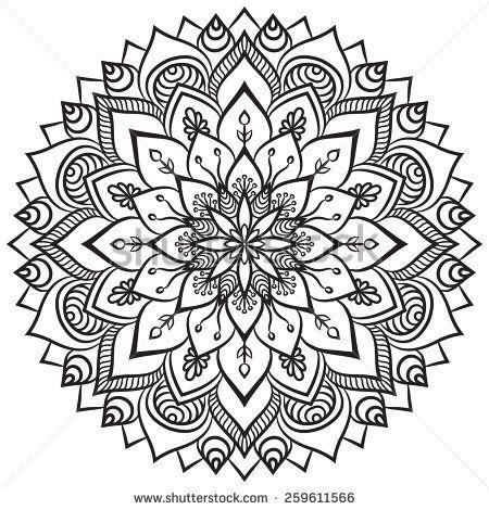 Mandala. Ethnic decorative elements. Hand drawn background. Islam, Arabic, Indian, ottoman motifs.  - stock vector