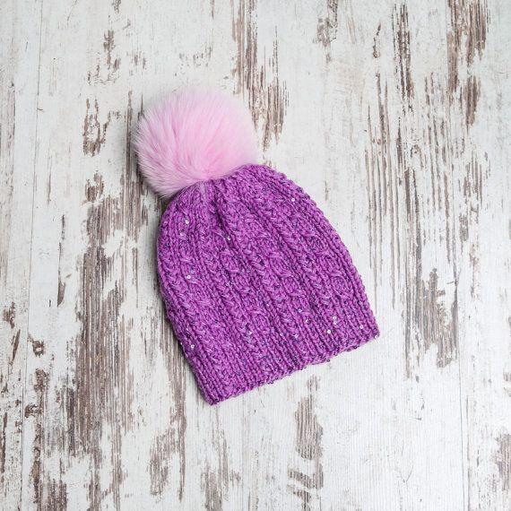 Kids knit hat Girl Hat Knitting beanie hat by SoftKnitDreams
