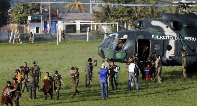 The Peruvian army says it has rescued 39 people from a farm where the Shining Path rebel group kept them as slaves. Some of the captives said they had been kidnapped some 30 years ago. The defence ministry said 26 of them were children, some of whom were born in captivity.
