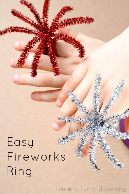 Easy Fireworks Ring Craft for Kids...great for New Years and Fourth of July