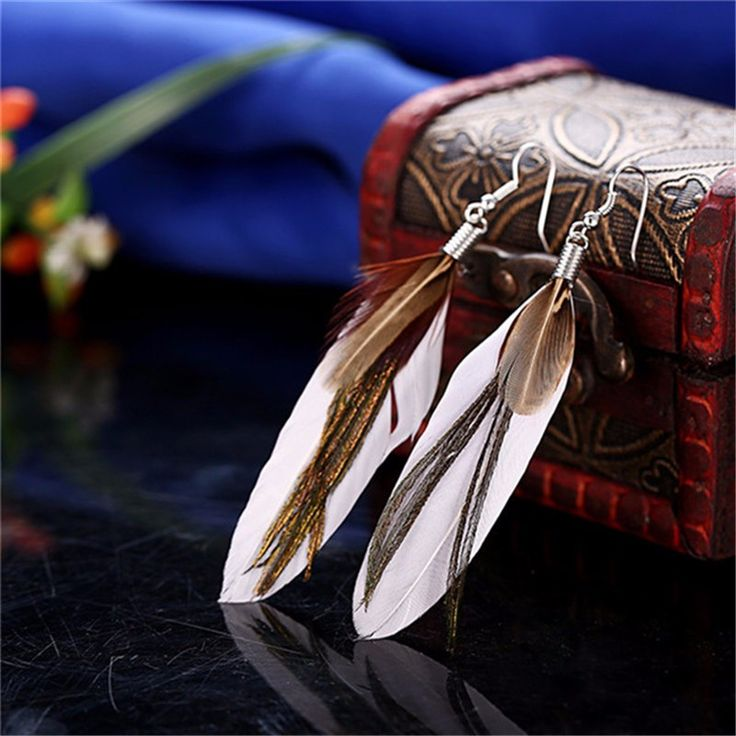 Dangle Earrings  2017 New Arrival Fashion Vintage Feather Long Drop Earrings For Women Beautiful Earrings Birthday Gift -- This is an AliExpress affiliate pin.  Click the image to visit the AliExpress website