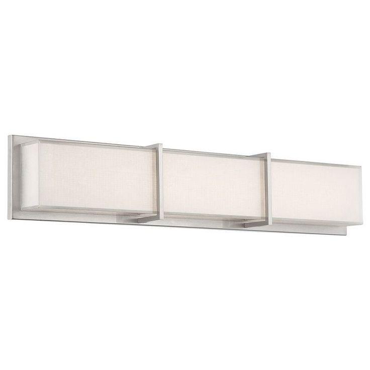 Create Photo Gallery For Website Modern Forms WS BN Brushed Nickel Bahn Width LED Dimming Bath Modern Bathroom LightingBathroom ModernVanity