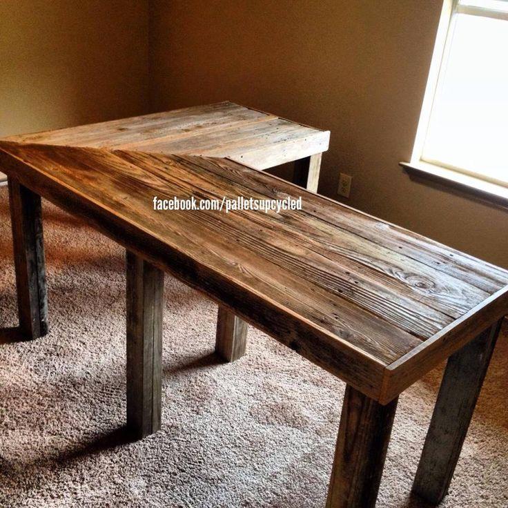 V Shaped Pallet Desk