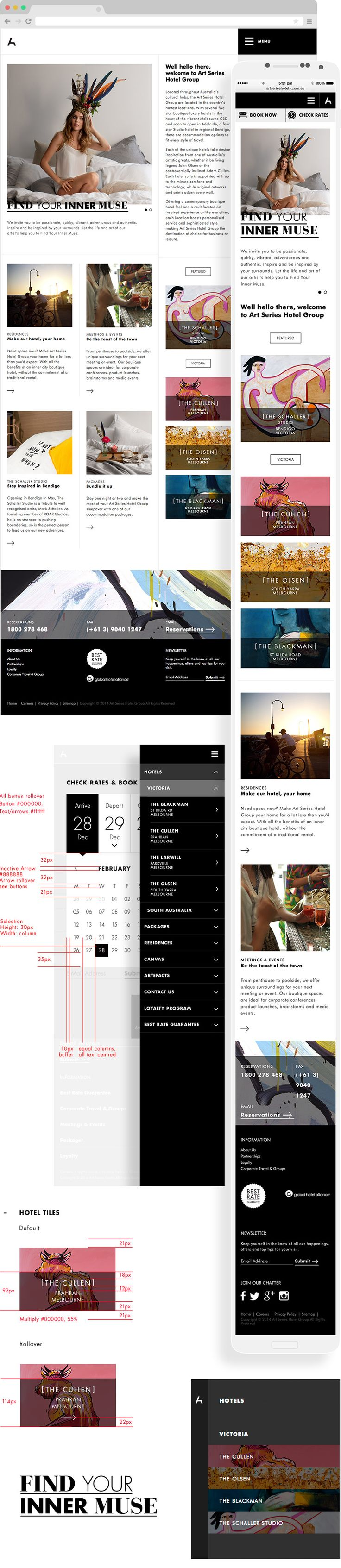 Art Series Hotel Group #UX #Responsive #Design and #Development. Multi-Site - Carter Digital