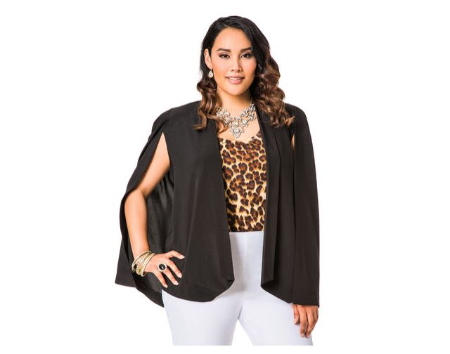 6 Plus Size Blazers for Work: Cape Blazer