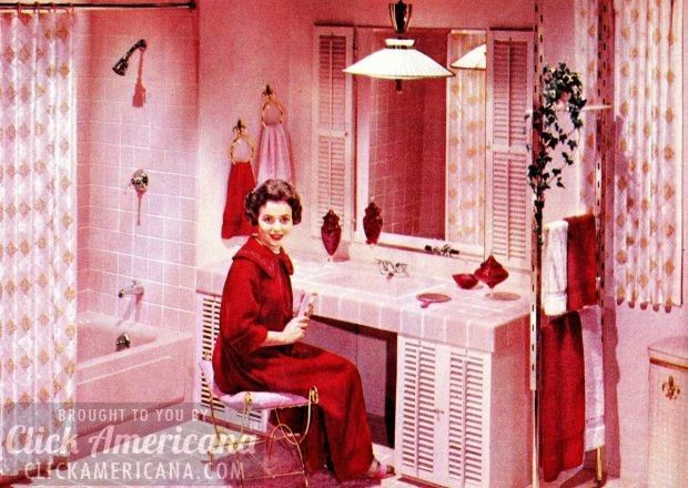 16 Retro Pink Bathroom Styles Of The 1950s Part 90