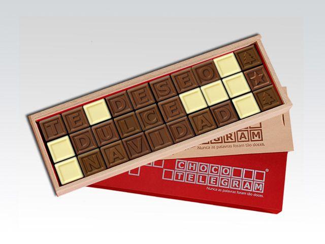 ¡No pierda el tiempo en esta Navidad, tenemos la solución! ¡Dulce mensajes de chocolate para sorprender a sus seres queridos! http://www.mysweets4u.com/es/?o=2,5,29,35,0,0