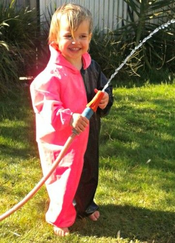 Navy and Pink Children's Coveralls