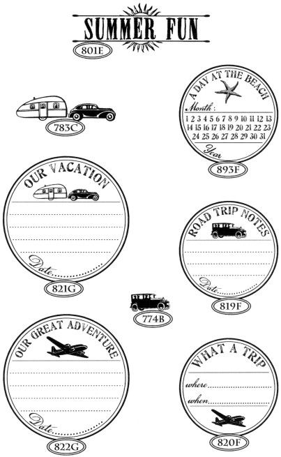 Travel stamps - Catslife Press