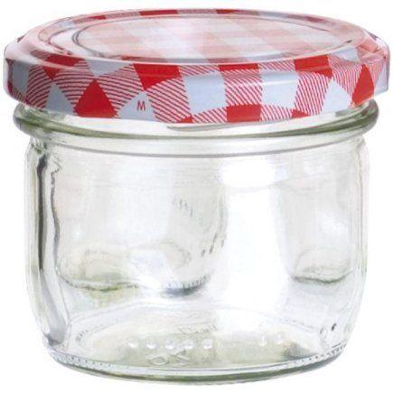 Zaváracie poháre, 0,12 l, 6ks, viečko káry, pre marmelády
