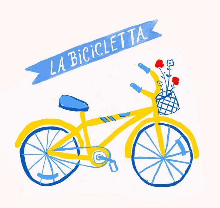 Danielle Kroll. La Bicicletta #bicycle