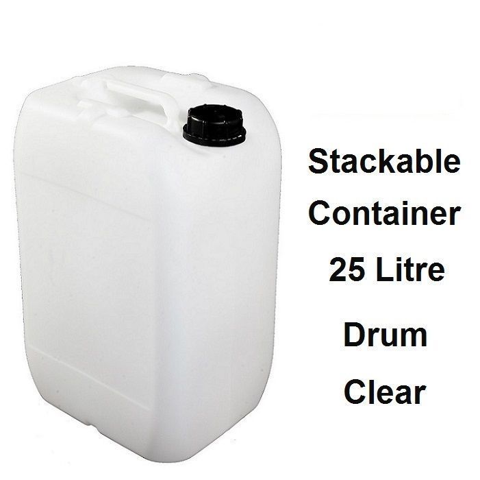 4 X 25 LITRE 25L 70MM NECK NEW PLASTIC BOTTLE JERRY CAN WATER CONTAINER CARRIER