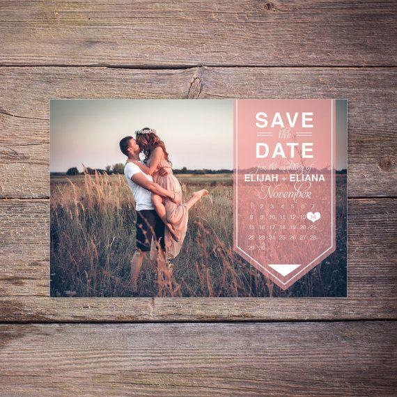 Modern sparen die Datum-Postkarte von LarissaKayDesigns auf Etsy