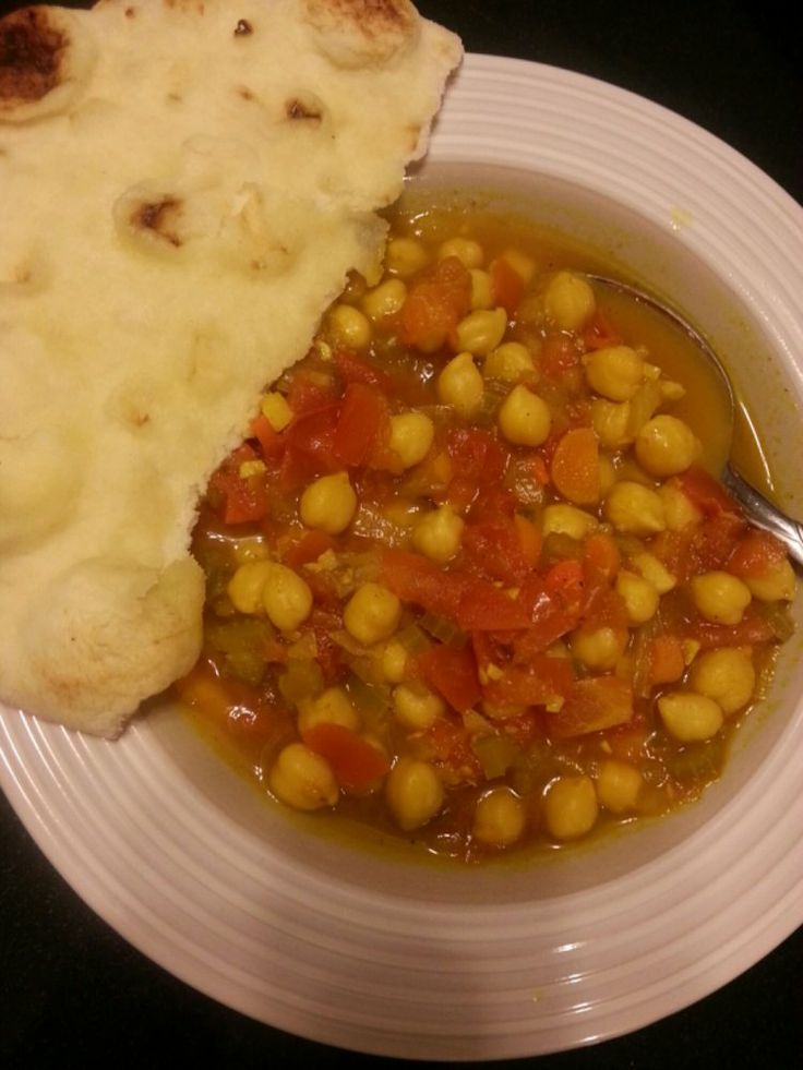 Spicy Chickpea Stew. Perfect for a cool, rainy day!