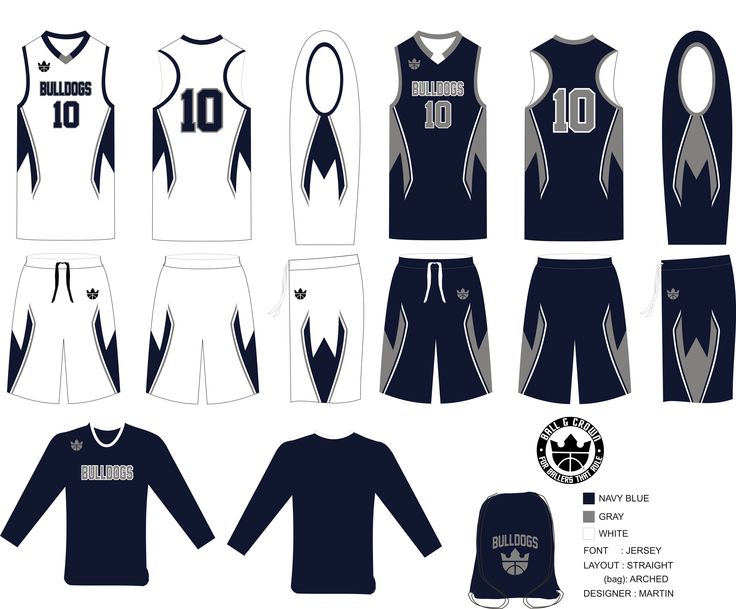 The Bulldogs Basketball Uniforms. If you are looking for pro-quality uniforms and team apparel for your youth basketball team or league visit our website http://ballandcrown.com