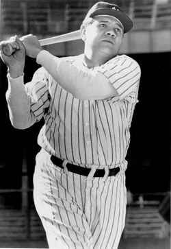 George Herman Babe Ruth - Born: February 6, 1895, Baltimore, Md USA Died: August 16, 1948, New York City, New York, USA Cause of Death: Throat cancer