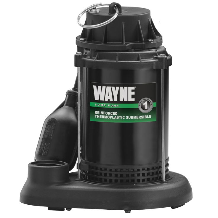 Wayne SPT33 Thermoplastic Submersible Sump Pump, 1/3 HP, Silver steel