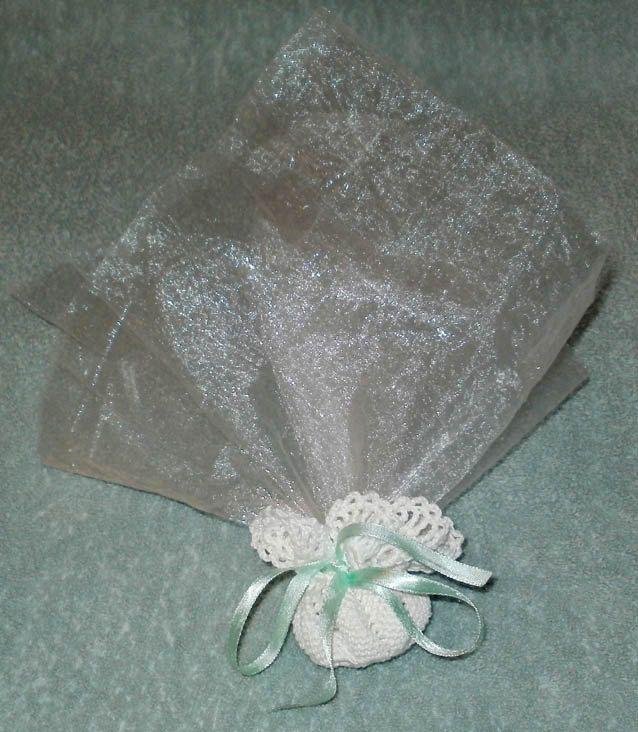 digital pattern crochet doily wedding favor pouch christening