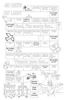 Lent calendar: get the pdf at https://drive.google.com/file/d/0B1FufsHoChPqZk5vUk5ZQXV3aUk/view?usp=sharing