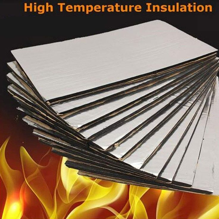 6pcs Auto Car thermal Insulation Sound Mat Proofing