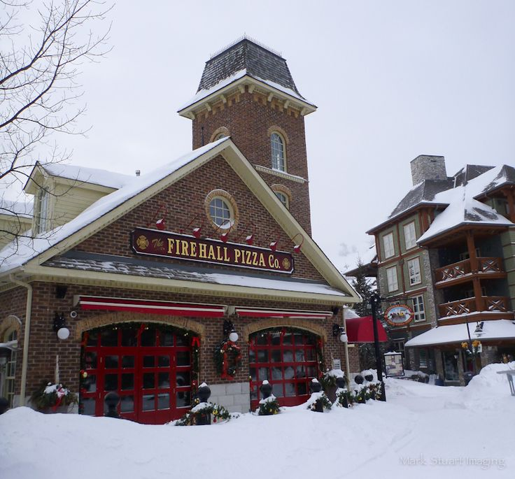 Firehall Pizza in the Village at Blue Mountain Resort Collingwood Ontario