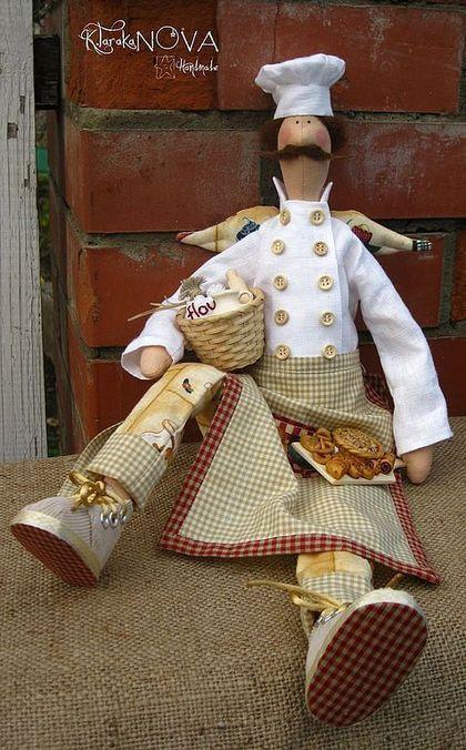 Куклы Тильды ручной работы. Заказать Кукла-тильда Фей Домашней Выпечки. Екатерина Тараканова. Ярмарка Мастеров. повар, лен