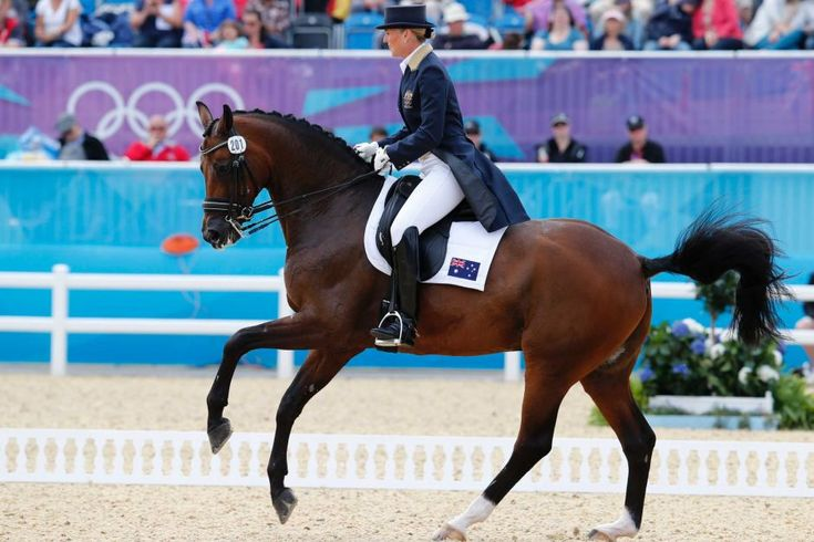 Mary Hanna rides during the equestrian individual dressage
