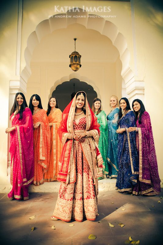If I Do Pick Bridesmaids And Dress Them Up Hope This Is What Happens Rainbow BridesmaidsIndian Wedding