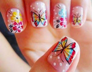 Uñas decoradas con mariposas: Miles de tics | TICS.NAME