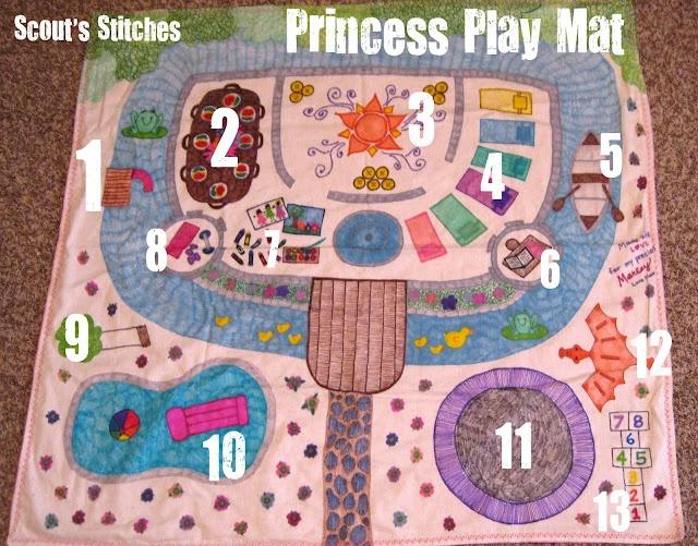 Princess Play Mat...I'm SOOOO doing this for my baby girl!
