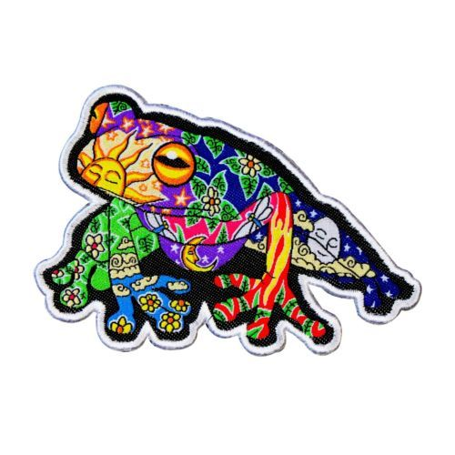 Dan-Morris-Psychedelic-Tree-Frog-Patch-Animal-Art-Craft-Apparel-Iron-On-Applique